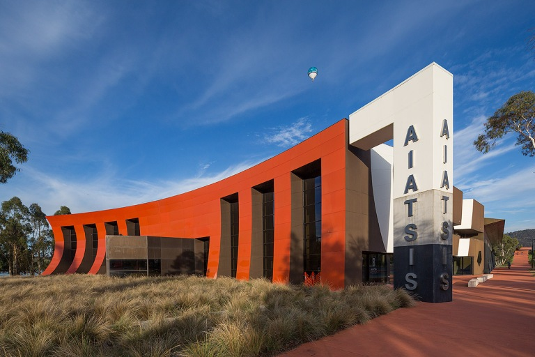 Exterior image of the AIATSIS building Canberra