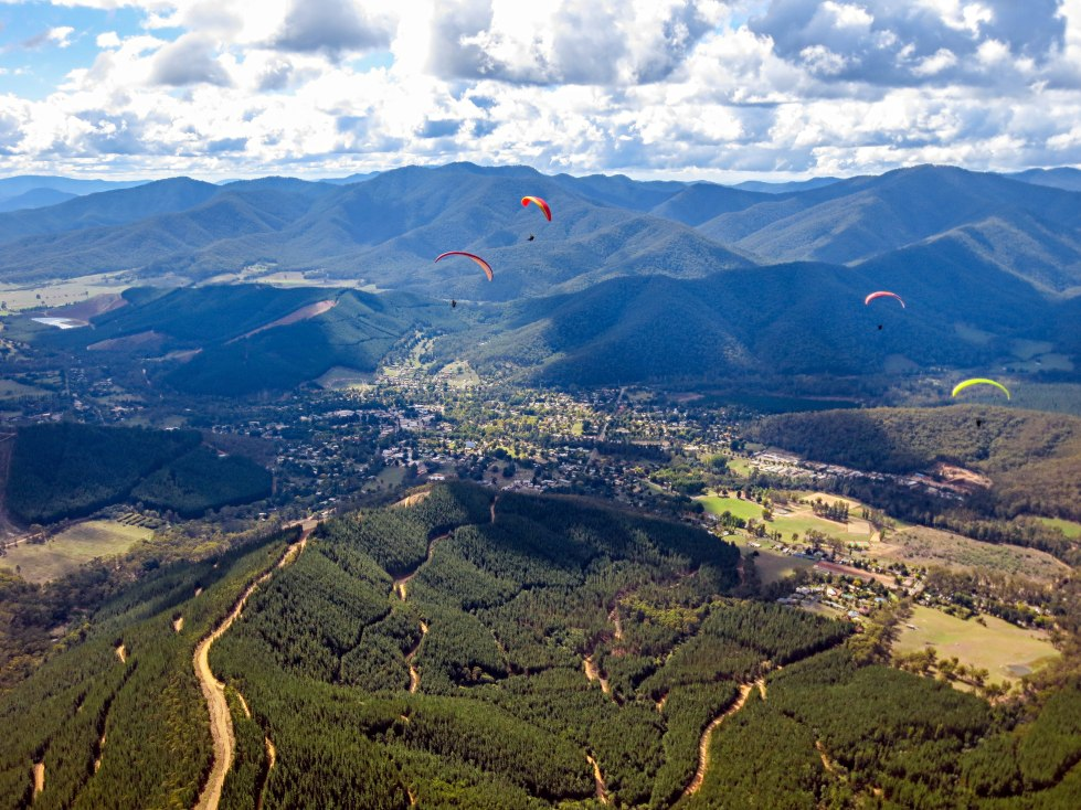 Images of Paragliding over Bright