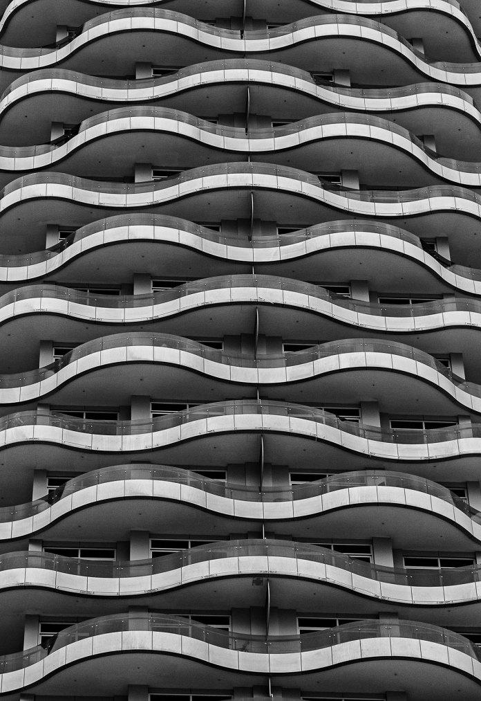 Dubai balconies in a tower block