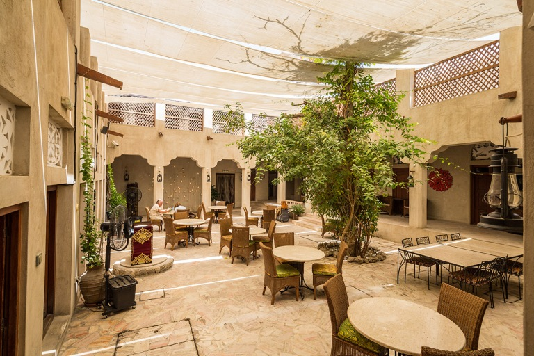 Cafe in the old city of Dubai