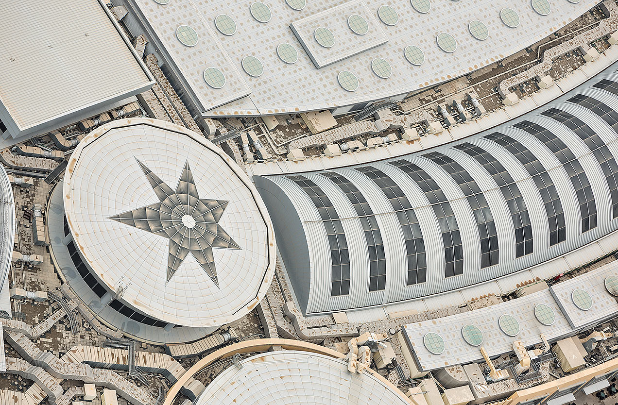 Image of the roof of the Dubai Mall