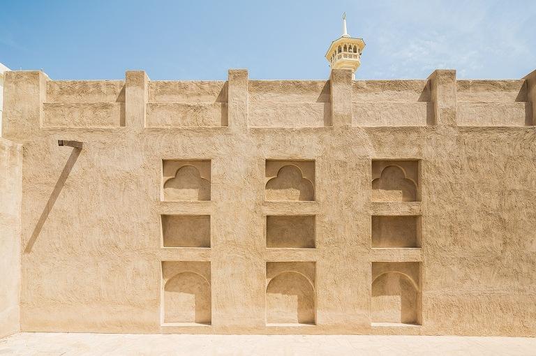 Image of Dubai old city wall