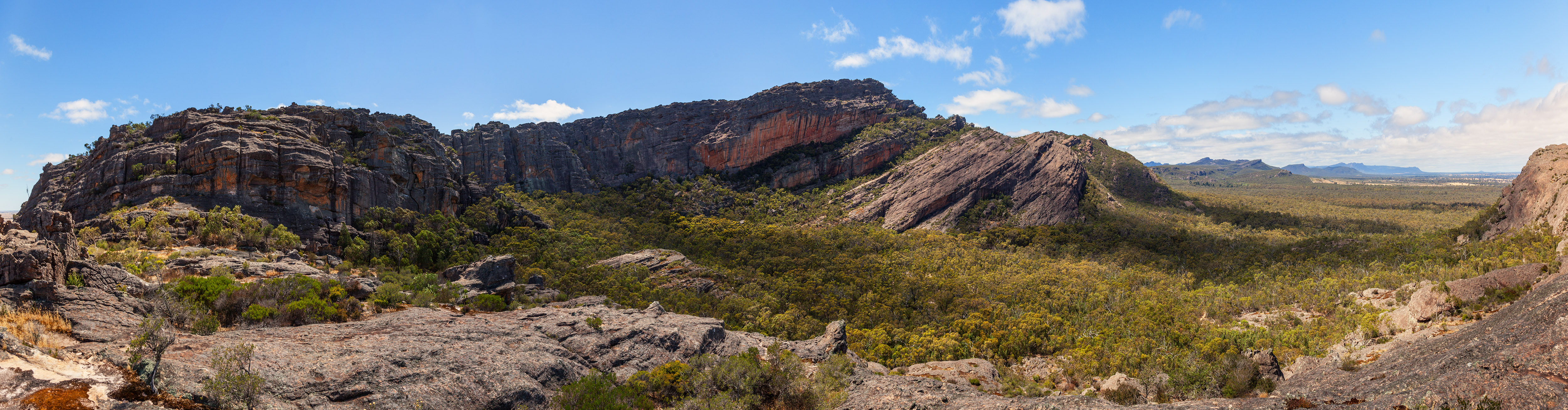 Panoramic landscape view of the Grampians, Victoria