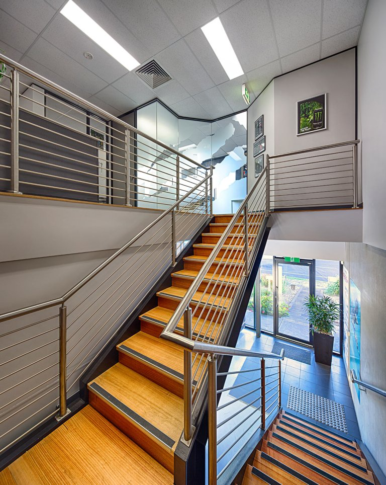 Image of office stairwell