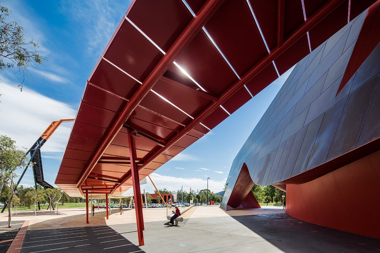 Exterior view of the National Museum of Australia, Canberra