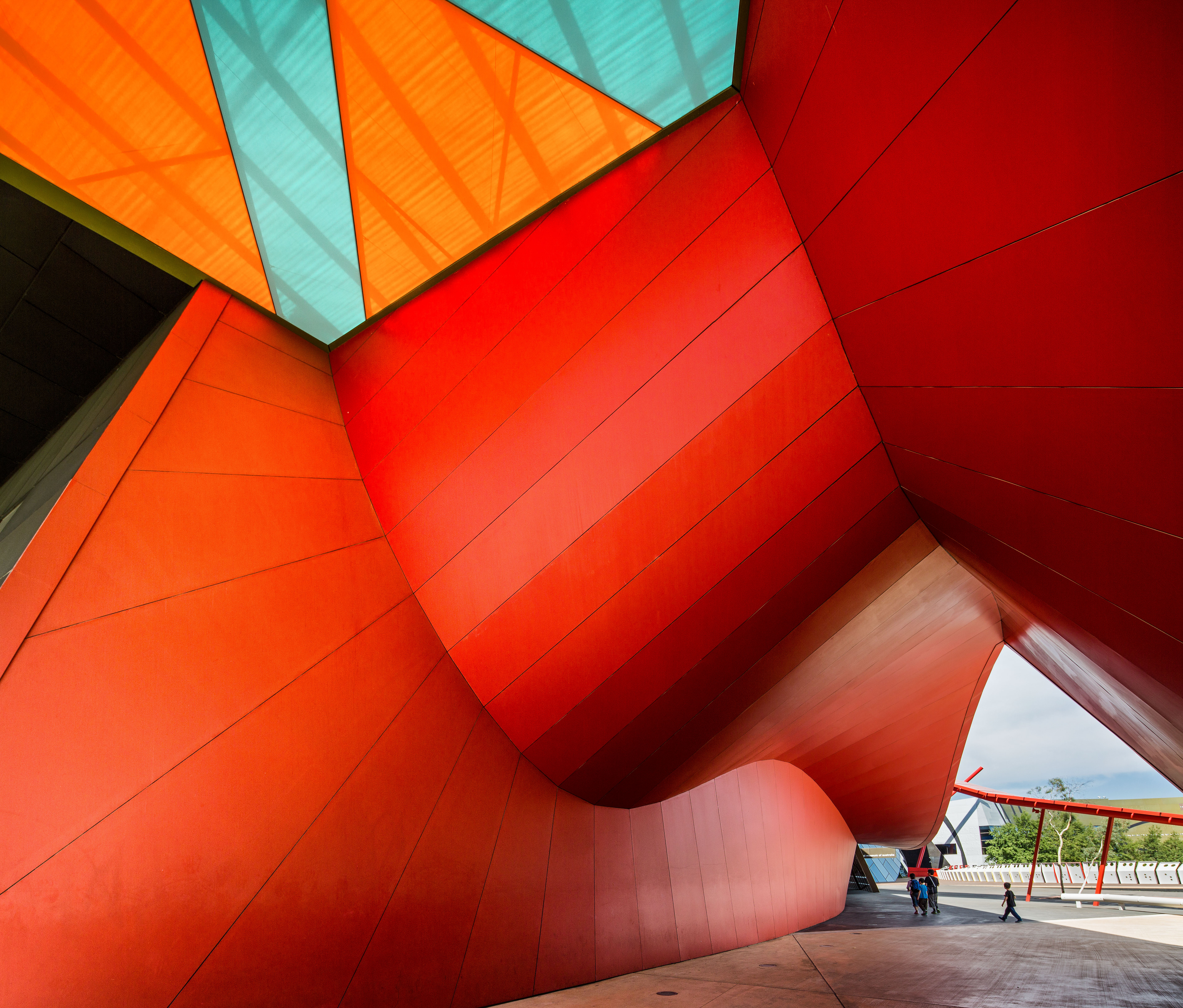 Interesting shapes at the National Museum of Australia