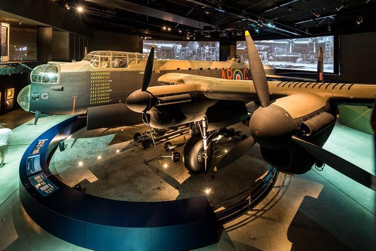 Image of an Avro Lancaster bomber, Australian War Memorial Canberra