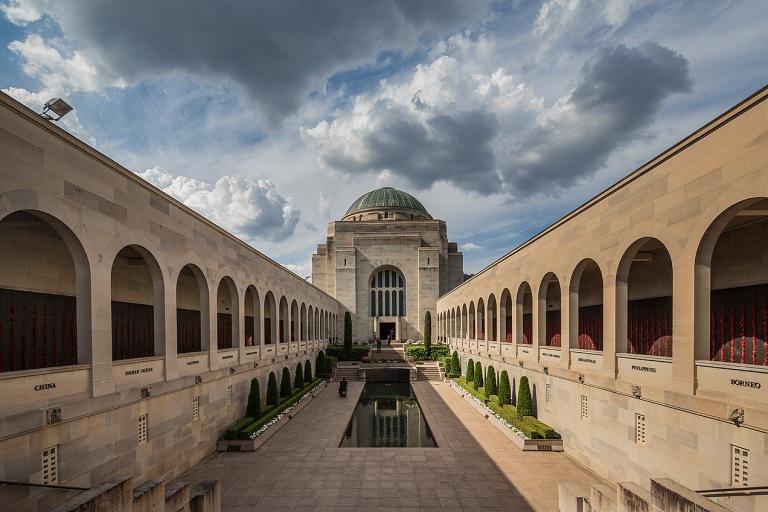 Exterior image of Australian War Memorial, Canberra