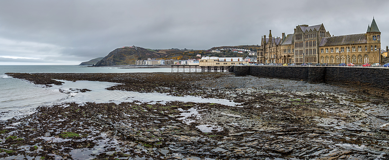 Panoramic image of Aberystwyth, Wales