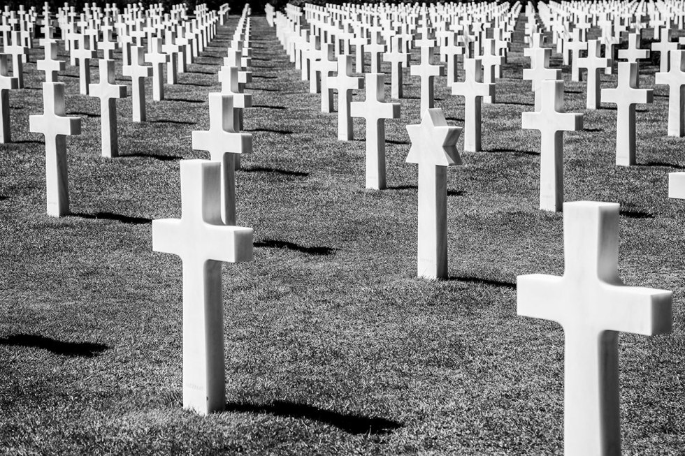 American cemetary at Coleville-Sur-Mer, Normandy