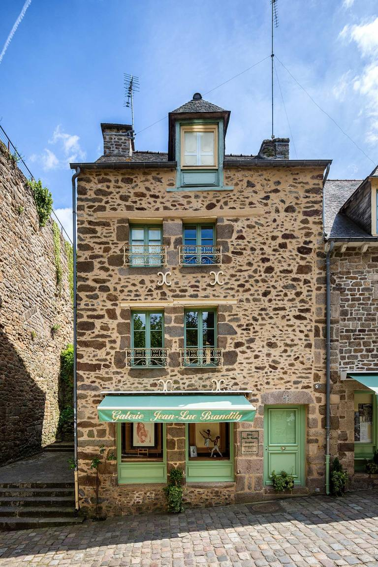 Dinan, in the Côtes-d'Armor department in northwestern France