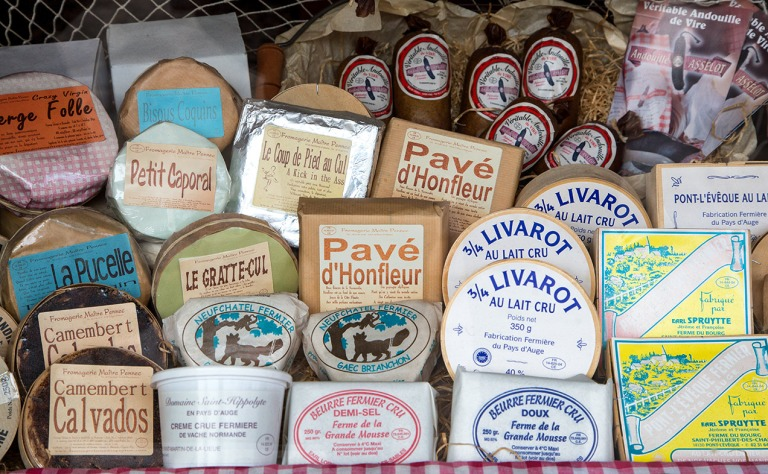 Image of soft Normandy cheeses