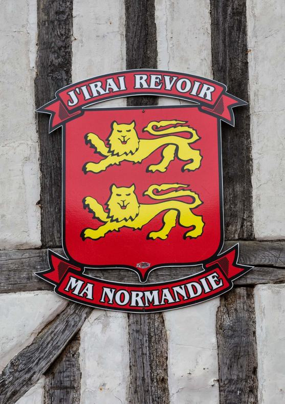 Sign in Honfleur Normandy