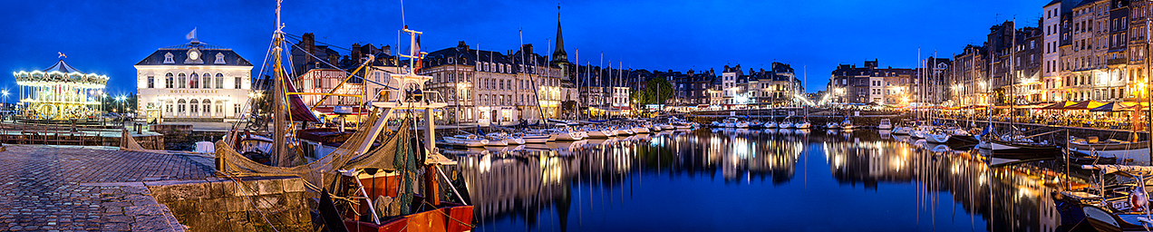 Image of Honfleur harbour at dusk