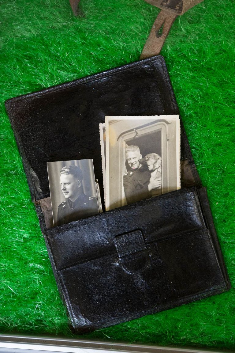 Wallet and photographs from a German soldier based in Normandy, June 1944