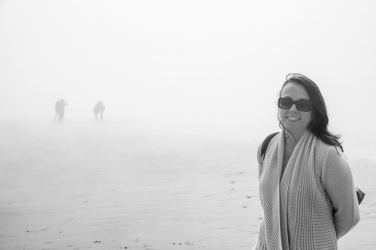 Fog on Omaha beach, Normandy