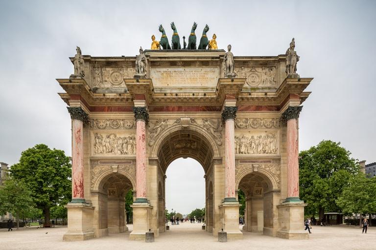 Image of Arc de Triomphe du Carrousel outside the Louvre