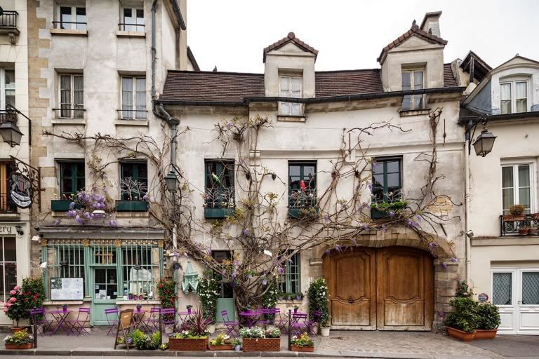 Cafe in Paris on the Ile De La Citie