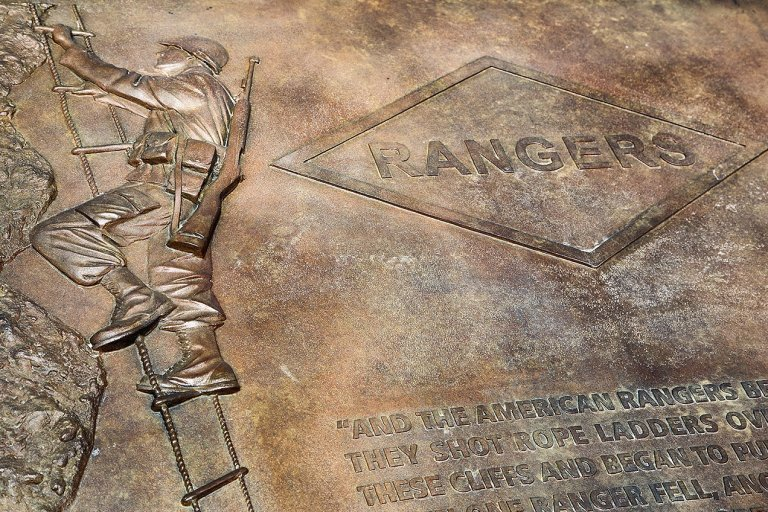 Ranger monument at the Pointe du Hoc