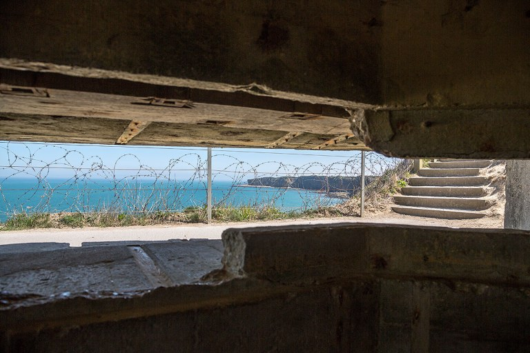 View from inside a German casemate in Normandy