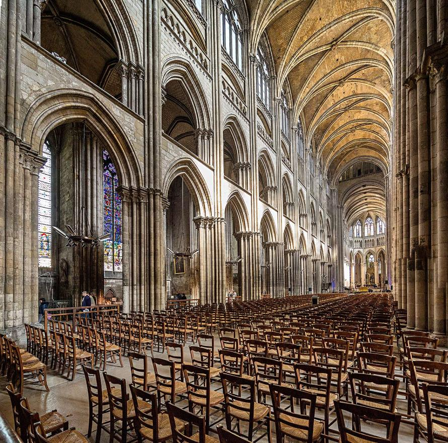 Image of interior of Rouen Cathedral