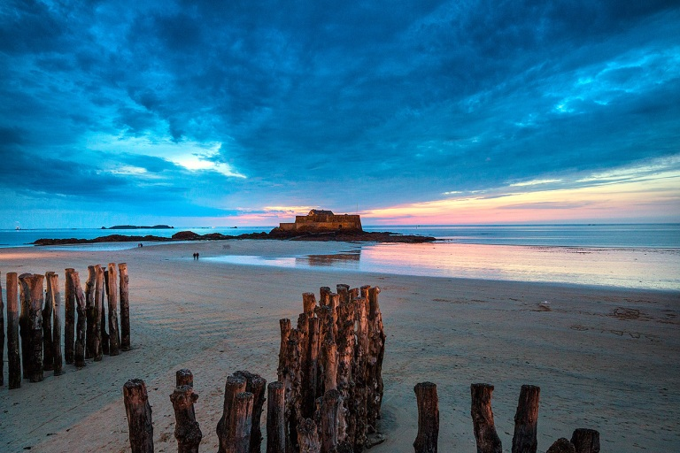 The Fort National, St Malo at dusk