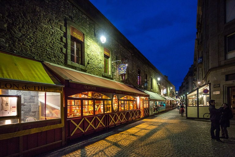 Restaurants in the walled city of St Malo