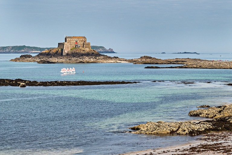 The Fort National, in the walled city port of St Malo