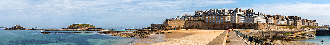 The walled city port of St Malo