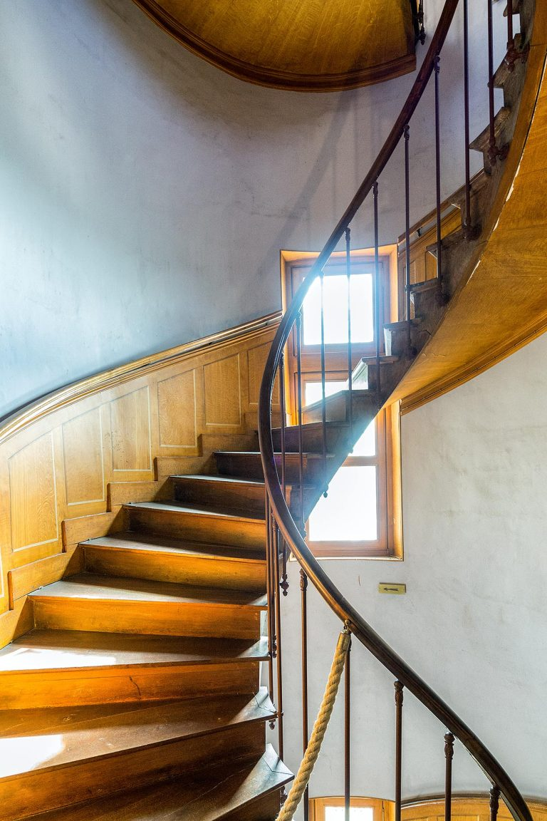 Stairwell inside the Chateau of Azay-le-Rideau, Indre-et-Loire, France