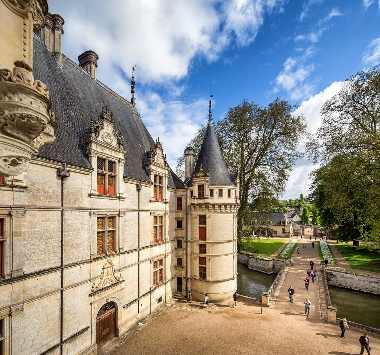 The Chateau of Azay-le-Rideau, Indre-et-Loire, France