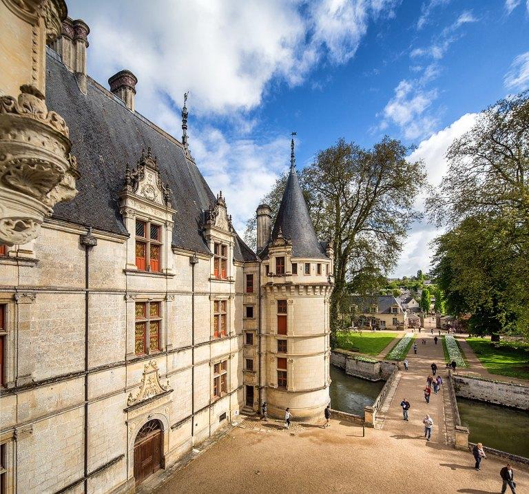 The Chateau of Azay-le-Rideau, Indre-et-Loire, France