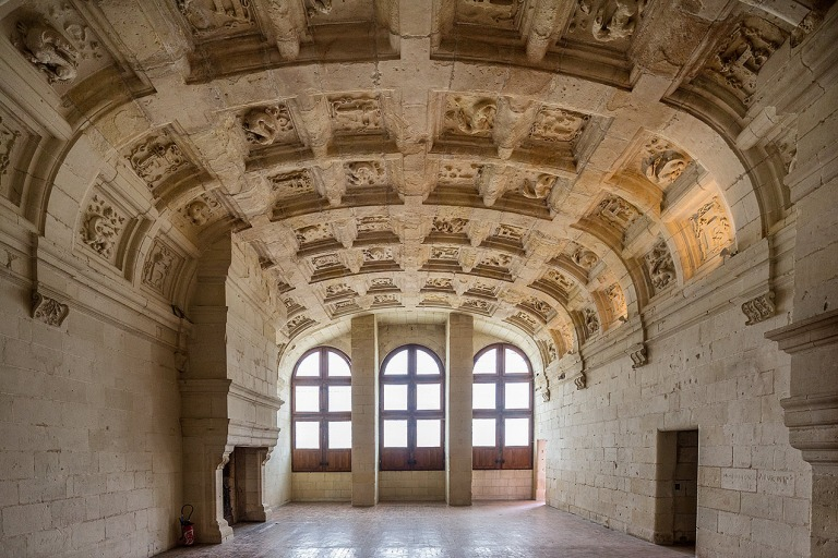 High ceilings at Chateau de Chambord