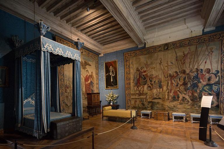 Bedroom at Chateau de Chambord