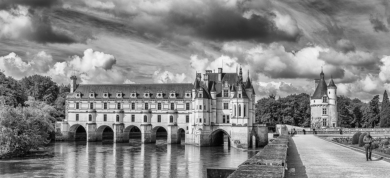 The Chateau of Chenonceau, on the Cher river