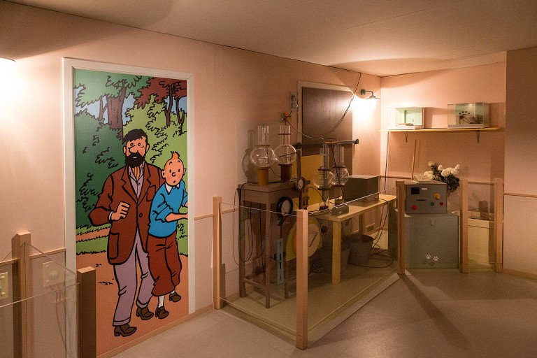 The Tintin Exhibition at the Chateau de Cheverny