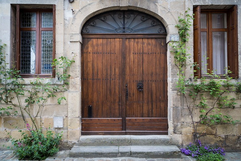 Door in Chinon, a commune in the Indre-et-Loire department in central France