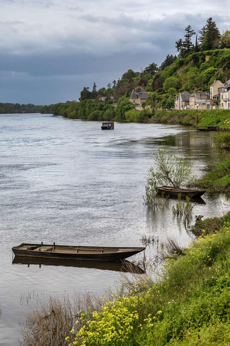 Boat on the river Vienne, Indre-et-Loire