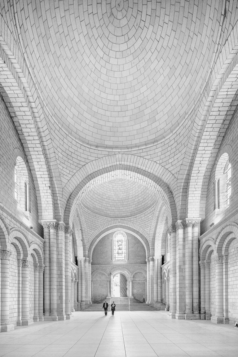 The nave at Fontevraud Abbey