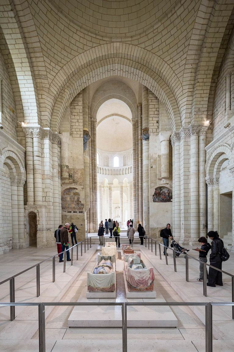 The tomb of Richard I (Richard the Lionheart) at Fontevraud Abbey