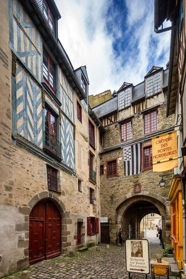 Timbered frame buildings in Rennes