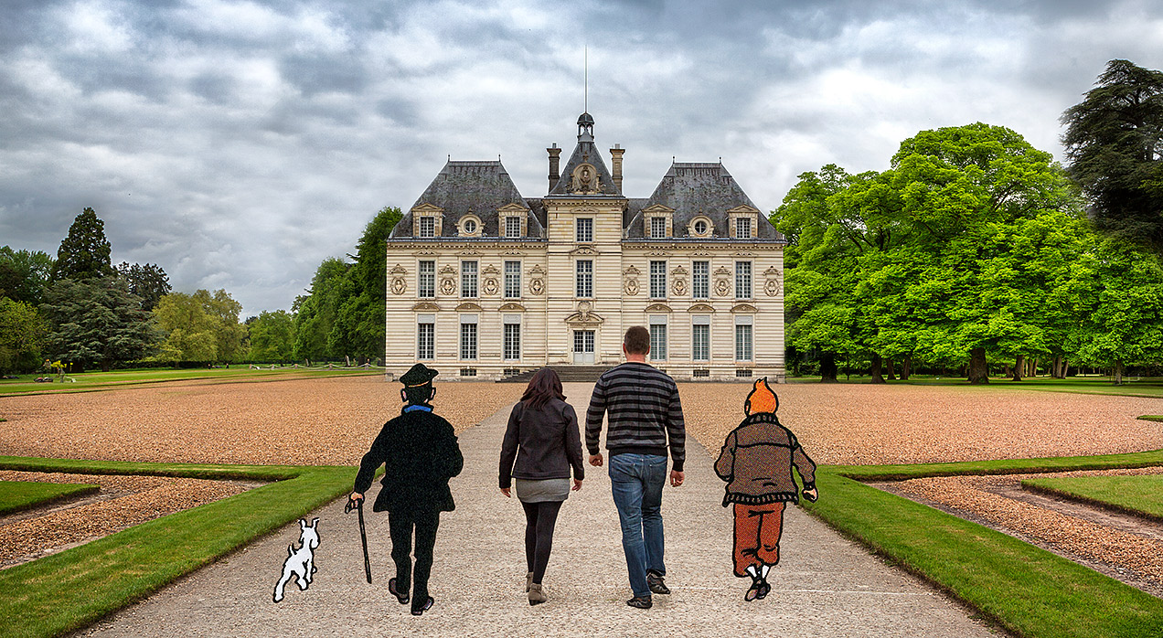 chateau de cheverny and tintin. Black Bedroom Furniture Sets. Home Design Ideas