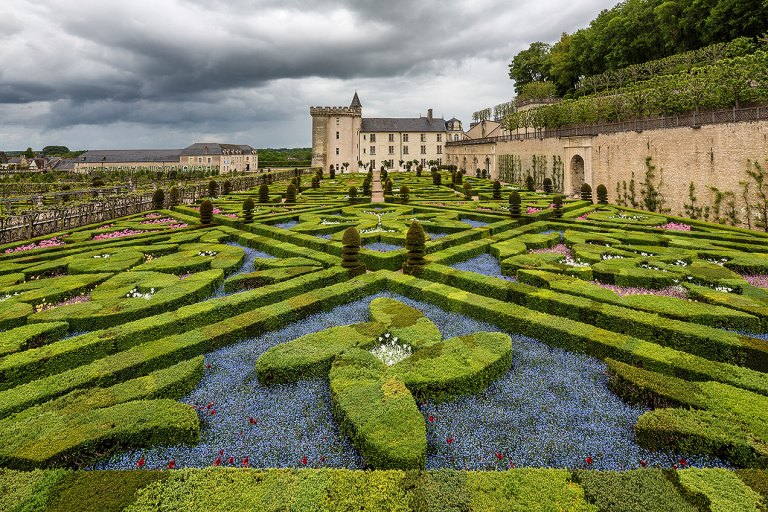 The Château de Villandry, a castle-palace located in Villandry, in the département of Indre-et-Loire, France.