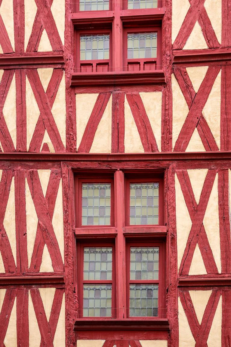 Building detail in Auxerre