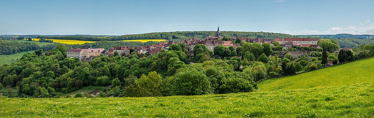 Panorama of Flavigny-sur-Ozerain, Burgundy