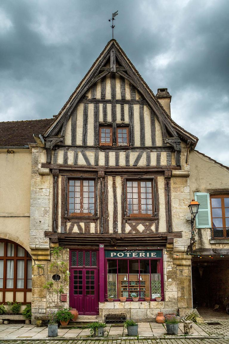 Building in Noyers-sur-Serein, Burgundy