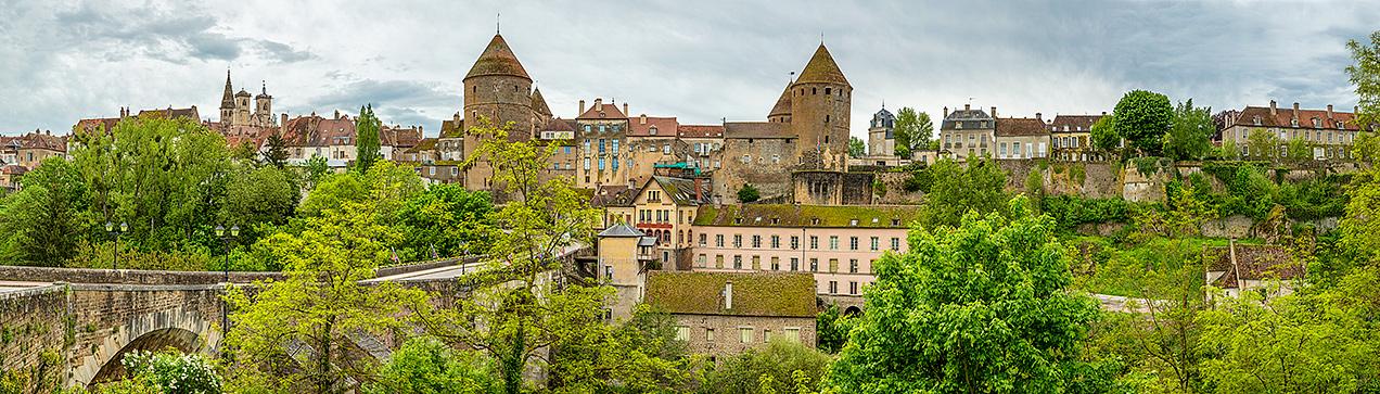 Semur-en-Auxois from Le Pont Joly