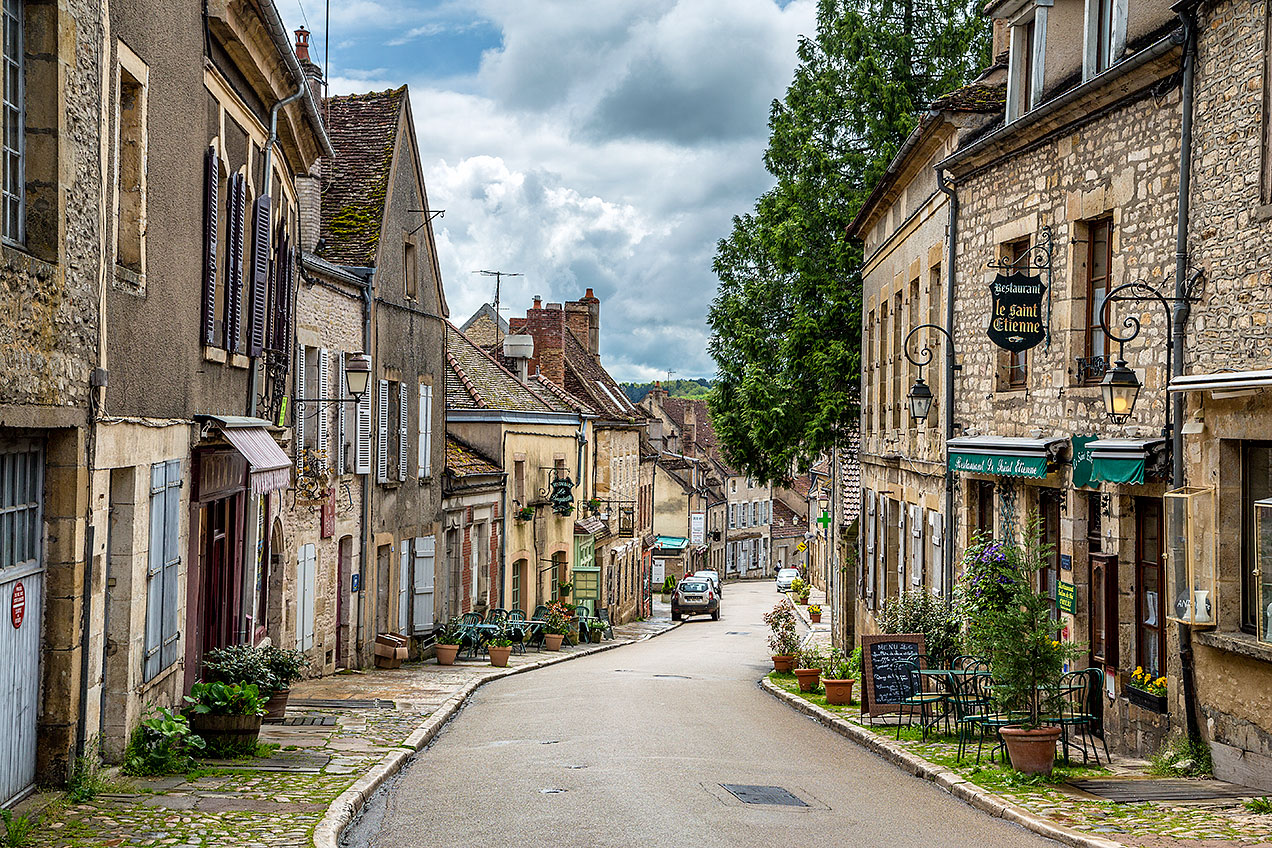 Vézelay, a commune in the Yonne department in Burgundy in north-central France
