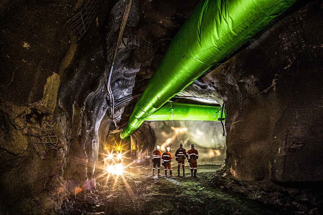 Underground at Fosterville Gold Mine, Bendigo