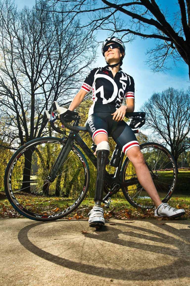 Paralympic cyclist Hannah McDougall